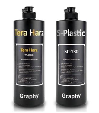 Tera Harz 레진 제품(좌: TC-80DP, 우: SC-130)